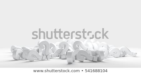 3d heap of question marks Stock photo © nasirkhan