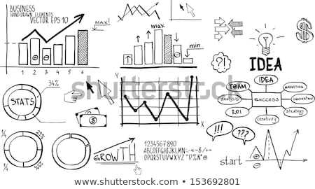 黒板 · 金融 · ビジネスグラフ · 白 · チョーク - ストックフォト © bbbar