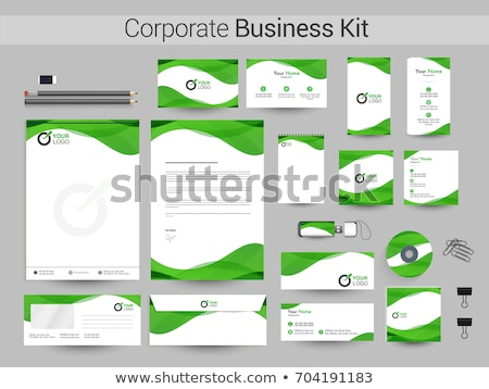 abstract green corporate id Stock photo © pathakdesigner