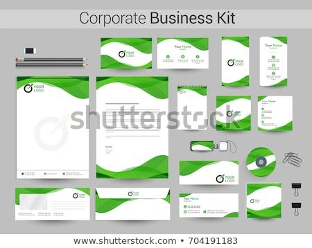 抽象的な 緑 企業 イド オフィス 世界中 ストックフォト © pathakdesigner