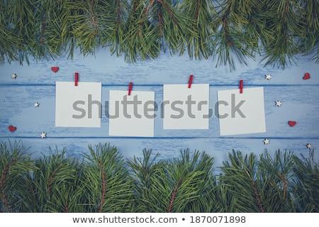 Arrangement groene wasknijper geïsoleerd witte Stockfoto © zhekos
