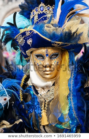 Venise carnaval masque traditionnel fleur Photo stock © cla78