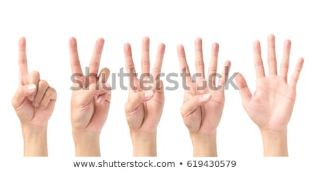 Counting woman hands (1 to 4) isolated on white background Stock photo © oly5