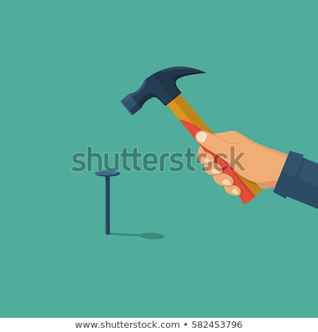 craftsman hammer in hand stock photo © photography33
