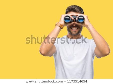Man with binoculars Stock photo © photography33
