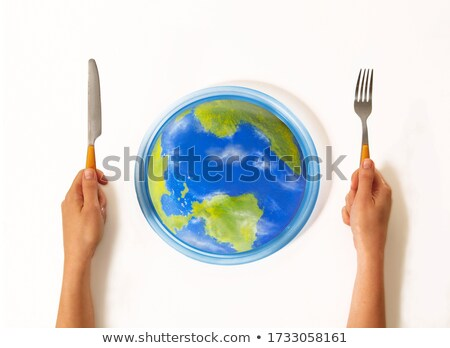 Hands holding a Diet Sphere Stock photo © kbuntu