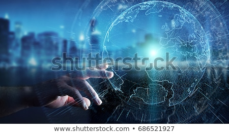 Businessman And Businesswoman Touching Hands Stock photo © sdecoret