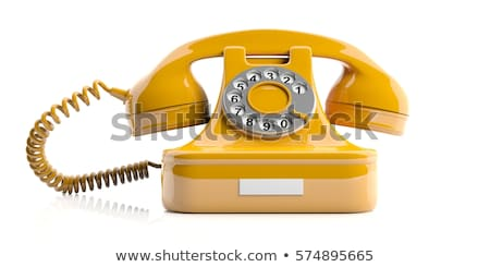Vintage телефон черный телефон изолированный белый Сток-фото © HectorSnchz