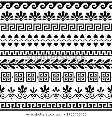 görög · váza · gyöngyök · izolált · fehér · modell - stock fotó © ivonnewierink