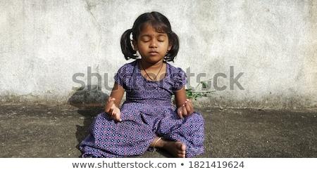 インド · 少女 · 瞑想 · 美しい · 小さな · 白 - ストックフォト © ziprashantzi