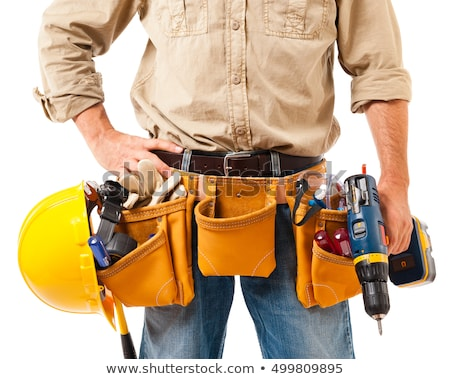 Tradesman holding a tool Stock photo © photography33