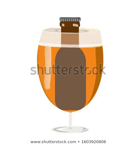 стекла пива богатых ароматический хмель изолированный Сток-фото © brulove