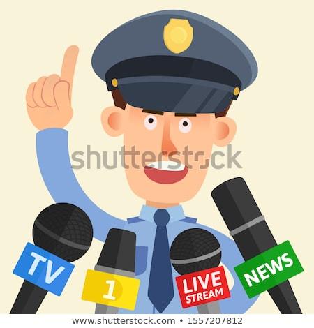 Politieagent politieagent illustratie mannelijke Stockfoto © patrimonio