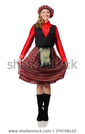 Stok fotoğraf: Kadın · kostüm · top · şapka · elbise · karnaval