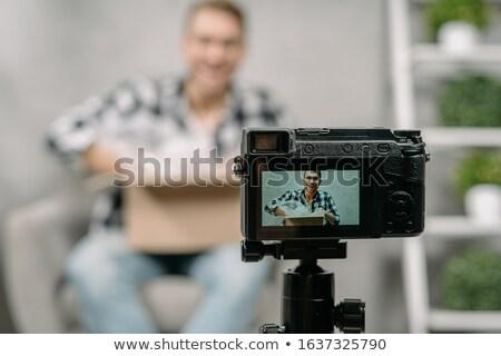 ビデオ · メディア · プレーヤー · セット · 孤立した · 白 - ストックフォト © magraphics