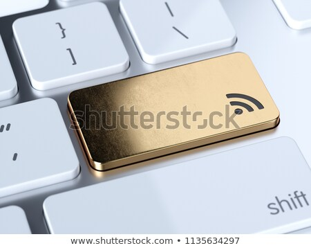 RSS button on keyboard with soft focus Stock photo © fotoscool