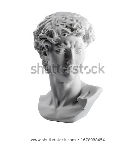 石膏 · 像 · 頭 · テクスチャ · 顔 · 目 - ストックフォト © supertrooper