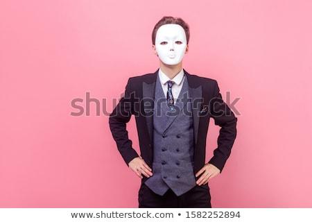 小さな · ビジネスマン · 手 · 孤立した · ビジネス - ストックフォト © photography33