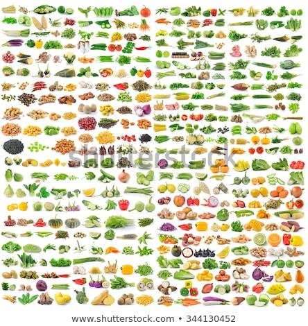 Vegetales colección alimentos maíz color tomate Foto stock © dagadu