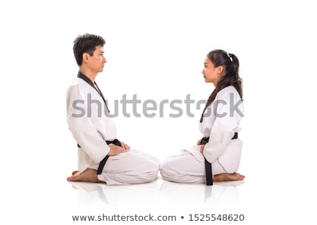 two men in kimono facing each other Stock photo © photography33