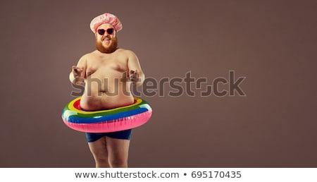 homem · natação · asiático · boné - foto stock © pcanzo