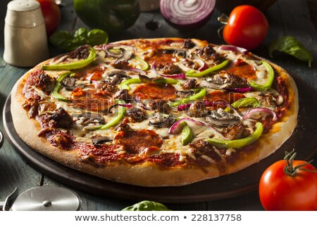 Gourmet Veggie Pizza stock photo © bendicks