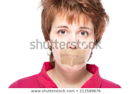 woman with a scotch tape on her mouth Stock photo © photography33