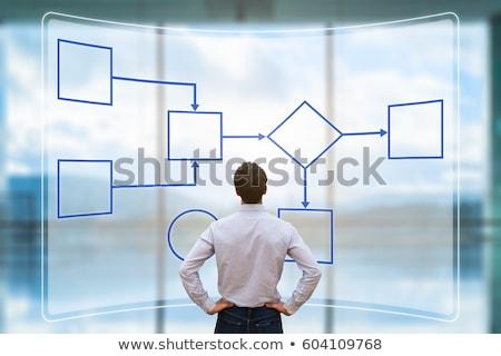 Negocios proceso gestión mano escrito blanco Foto stock © ivelin