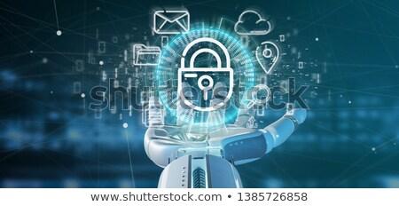 adatbiztonság · globális · kommunikáció · illusztráció · terv · fehér · üzlet - stock fotó © lightsource