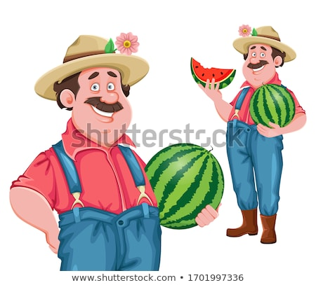 Farmer - Cartoon Character - Vector Illustration stock photo © indiwarm