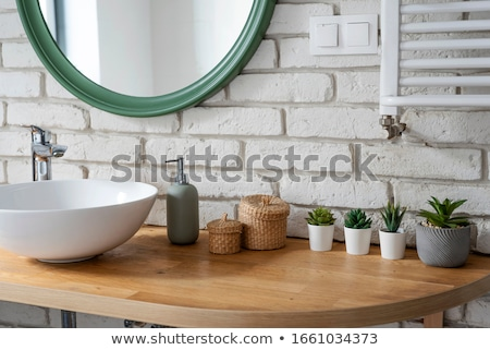 Bathroom with basin and toilet stock photo © ABBPhoto