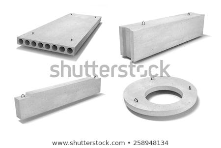 Izolált beton nyaláb fehér keret textúra Stock fotó © eldadcarin