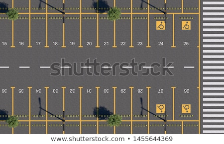 Parkeerplaats auto kruisen auto stad natuur Stockfoto © meinzahn