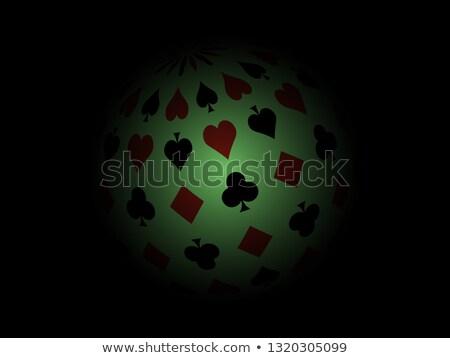 Stock fotó: Körkörös · kártya · öltöny · hazárdjáték · szimbólumok · izolált