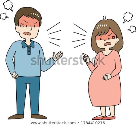 Wife quarrelling with her husband stock photo © wavebreak_media