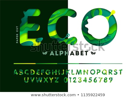 Green Bio Sign on Alphabet Background. Stock photo © tashatuvango