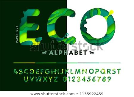 verde · bio · assinar · mensagem · painel - foto stock © tashatuvango