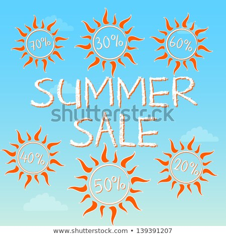 Stock photo: summer sale with different percentages in suns
