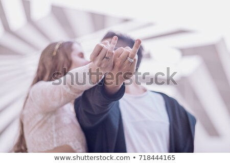 Bride showing ring. stock photo © iofoto