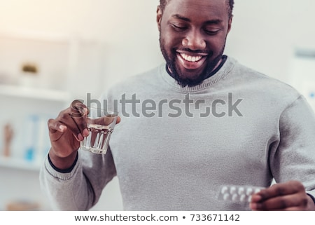 Person taking medication Stock photo © photography33