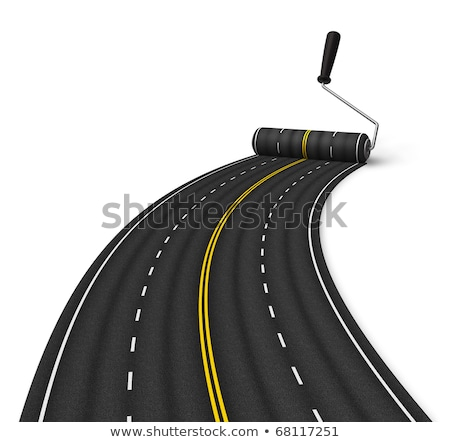 Road and paint roller Stock photo © gladiolus