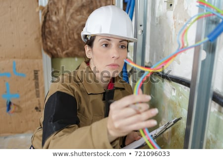 female electrician with wiring stock photo © photography33