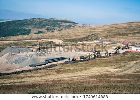 Przemysłowych krajobraz lawa wody przemysłu fabryki Zdjęcia stock © Hofmeester