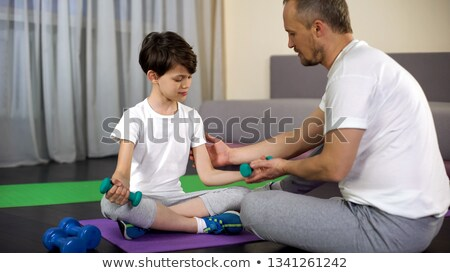 Man make exercise with dumbbell Stock photo © doupix
