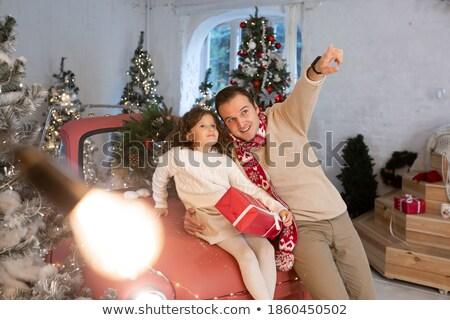 vader · tonen · iets · dochter · verwonderd · niet - stockfoto © doupix