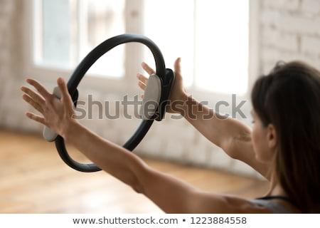 hispanos · mujer · yoga · ejercicio · retrato - foto stock © phakimata
