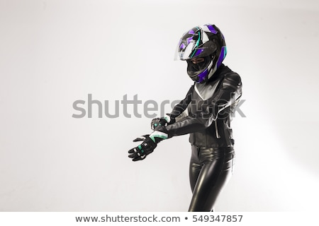 Speeding Motorcycle Woman Stock photo © ArenaCreative