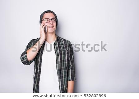 yakışıklı · mutlu · genç · kız · arkadaş · güzel - stok fotoğraf © stockyimages