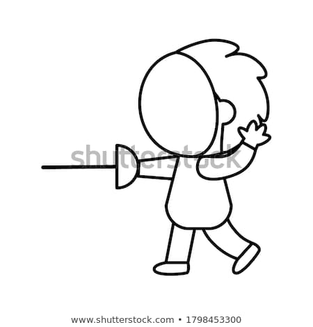 sabre clip art cartoon illustration Stock photo © izakowski