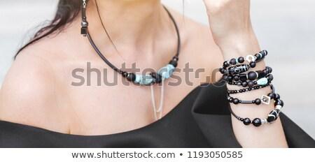 colier · femeie · gât · portret · fată - imagine de stoc © chesterf